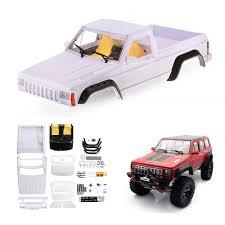 100 Rc Pickup Truck Unpainted 313mm Wheelbase Cherokee Pickup Truck Body Shell Set For