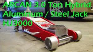 Trolley Jack Vs Floor Jack by Arcan 3 Ton Hybrid Steel U0026 Aluminum Floor Jack Model Hj3000