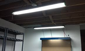 fluorescent lights fluorescent light fixtures garage replace