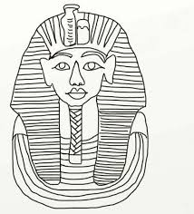King Tutankhamun Death Mask From Ancient Egypt Coloring Page