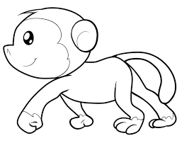 Cute Animal Coloring Pages Monkey