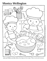 Kitchen And Coloring Pages Homey Design Cooking Page