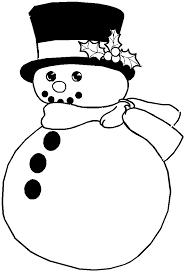 Printable Christmas Coloring Page Snowman