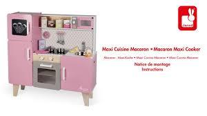 cuisine janod maxi cuisine macaron janod notice de montage