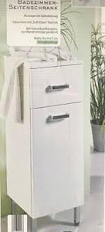 badezimmer seitenschrank badezimmermöbel bad schrank unterschrank weiss