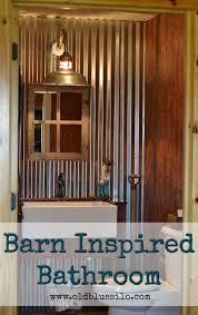 Half Bath Theme Ideas by Old Blue Silo Barnhouse Tour Barn Inspired Half Bath