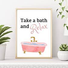 take a bath and relax badezimmer geschenk druck poster bild