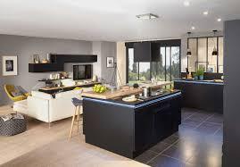 cuisine blanche ouverte sur salon cuisine blanche ouverte sur salon galerie et cuisine ytrac de