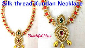 DIY/ How To Make Silk Thread Necklace Latest Design At Home..Easy ... Bresmaid Jewelry Ideas How To Choose For Bresmaids Bold Design Ideas To Make Pearl Necklace Making With Beads Diy New What Is Projects Cool Home Luxury Under Make Embroidered Patches Blouses And Sarees At Jewellery Work Villa 265 Best Moore Jewelry Images On Pinterest Making Design An Ecommerce Website Xmedia Solutions Blog Decorating A Small Bedroom Decorate Really Learn How Jewellery Home With Insd Let Us Publish Backyards Woodworking Box Plans Free Download