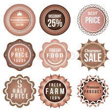 Product Vintage Labels Template Set Brown Theme Retro Badge Logo Design Vector