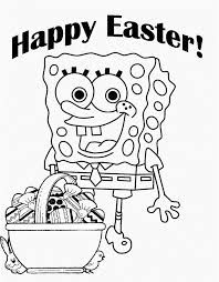 Spongebob Coloring Pages Easter Print Free