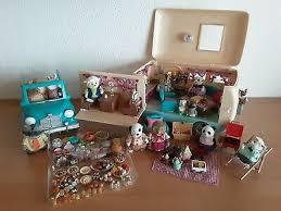 spielzeug sylvanian families wohnzimmer und tv set sofa