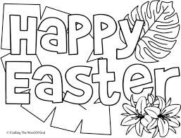 Happy Easter Coloring Page 1