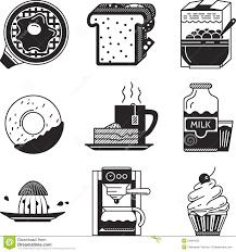 Breakfast Black Icons Stock Illustration Of Icon