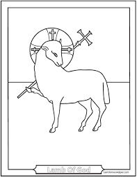 Lamb Of God Religious Easter Coloring Pages