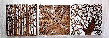 tree wall decor carved wood pane kan thai dma