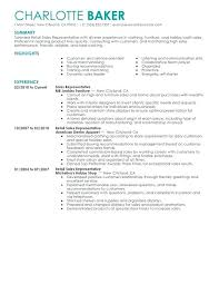 Retail Job Resume Examples For Outstanding Objective Example Sales