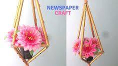 How To Make Newspaper Flower Vase