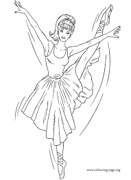 In This Coloring Pages Barbie Is Dressed Like A Beautiful Ballerina Enjoy