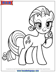 Unicorn Pony Rarity Coloring Page