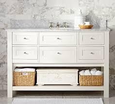 46 Inch White Bathroom Vanity by Bathroom Vanities U0026 Sink Consoles Pottery Barn