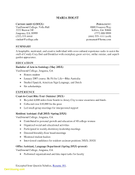 Resume Templates College Graduate Samples Fresh Good Resumes For Students Reference Example Of