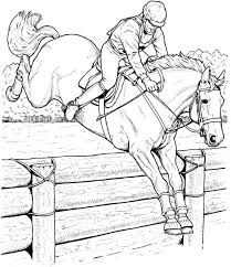 Online Adult Coloring Pages Of Jumping Horse