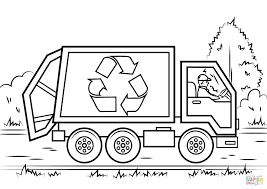 100 Trash Truck Video For Kids Plush Design Garbage Coloring Page Cool