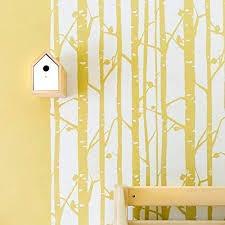 stencilit wandschablone groß birkenwald 61 x 95 cm