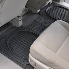 Amazon.com: Motor Trend 4pc Black Car Floor Mats Set Rubber Tortoise ...
