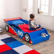 KidKraft Race Car Toddler Bed Blue and Red Walmart