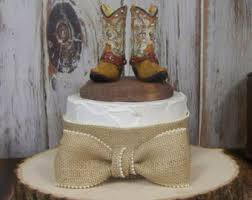 Birthday Cake Topper Boot Rustic Her Western Cowboy Boots