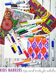 Alisaburke Kids Markers Tips And Tricks For Adults Adult ColoringColoring BooksColoring