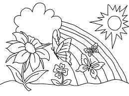 Lovely Spring Coloring Pages Additional Kids For And