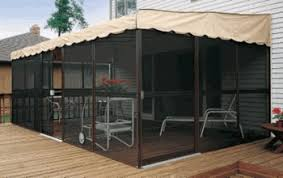 patio mate screened enclosure chestnut almond color screen