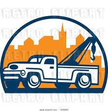 100 Tow Truck Clipart Vector Clip Art Of Retro Over A City By Patrimonio 42008