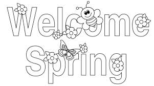 Welcome Spring Colouring Pages