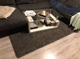 hochflor teppich 140cm x 200cm shaggy grey