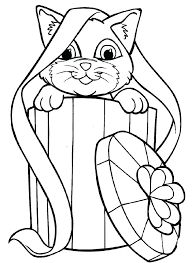 Kitten Coloring Sheets Kittens Book Pencil And In Color Christmas Colouring Pages Full Size