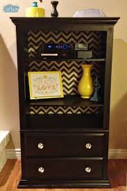 Out of an old dresser missing drwaers Just add shelves How cute