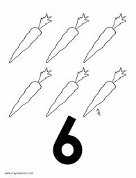 Printable Image Of The Number Six Coloring Page