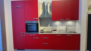 einbauküche mankarosso 1 in rot akazie küchenzeile 300 cm mit e geräte