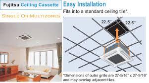 Lg Ceiling Cassette Mini Split by Fujitsu General Ceiling Cassette Air Conditioner
