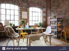 100 Loft Style Apartment A Dining Room In A Loft Style Apartment With Exposed Brick