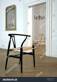 100 Parisian Interior Wishbone Chair Elegant 3d Stock