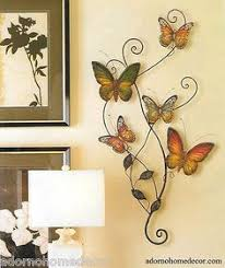 Metal Butterfly Wall Decor Art Garden Cottage Unique Indoor Outdoor Patio