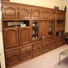 hochwertige wohnzimmer schrankwand eiche rustikal sehr gut