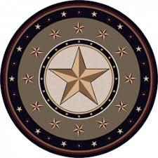 Sage Star Round Area Rug