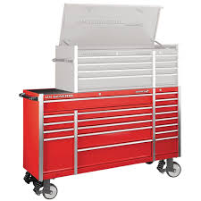 100 Service Truck Tool Drawers 72 In X 22 In Triple Bank Roller Cabinet Red