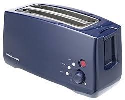KitchenAid KTT570BU 4 Slice Digital Toaster With Bagel Warm And Frozen Functions